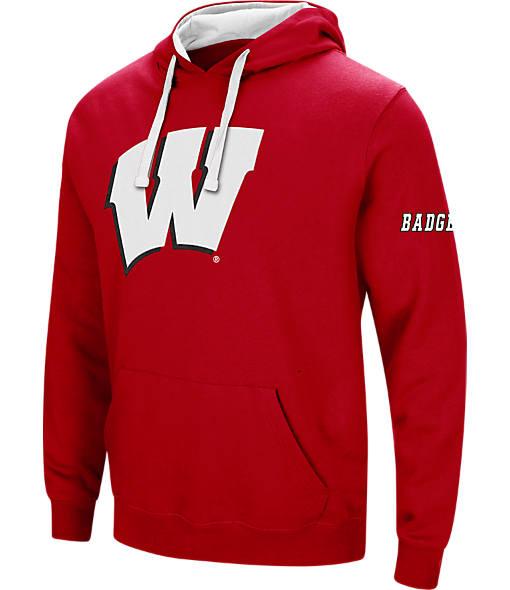 Men's Stadium Wisconsin Badgers College Big Logo Hoodie