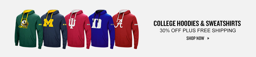 NCAAA College Hoodies and Sweatshirts 30% Off. Shop Now.