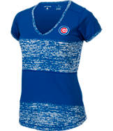 Women's Antigua Chicago Cubs MLB Activate V-Neck T-Shirt