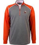 Men's Antigua Cleveland Browns NFL Breakdown 1/4 Zip Shirt