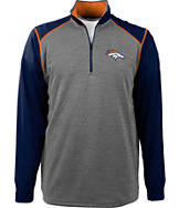 Men's Antigua Denver Broncos NFL Breakdown 1/4 Zip Shirt