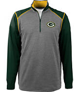 Men's Antigua Green Bay Packers NFL Breakdown 1/4 Zip Shirt