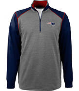 Men's Antigua New England Patriots NFL Breakdown 1/4 Zip Shirt
