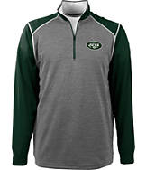 Men's Antigua New York Jets NFL Breakdown Quarter Zip Shirt