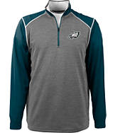 Men's Antigua Philadelphia Eagles NFL Breakdown 1/4 Zip Shirt