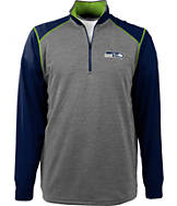 Men's Antigua Seattle Seahawks NFL Breakdown 1/4 Zip Shirt