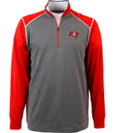 Men's Antigua Tampa Bay Buccaneers NFL Breakdown 1/4 Zip Shirt