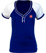 Women's Antigua Chicago Cubs MLB Two-Button Henley Shirt