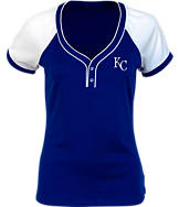 Women's Antigua Kansas City Royals MLB Two-Button Henley Shirt