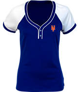 Women's Antigua New York Mets MLB Two-Button Henley Shirt