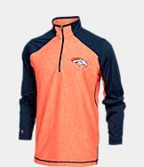 Men's Antigua Denver Broncos NFL Playmaker Quarter-Zip Jacket