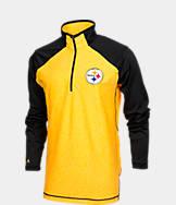 Men's Antigua Pittsburgh Steelers NFL Playmaker Quarter-Zip Jacket