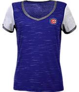 Women's Antigua Chicago Cubs MLB Rival V-Neck T-Shirt