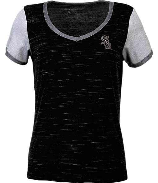 Women's Antigua Chicago White Sox MLB Rival V-Neck T-Shirt