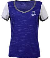 Women's Antigua Kansas City Royals MLB Rival V-Neck T-Shirt