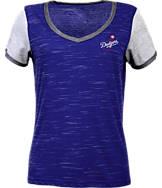 Women's Antigua Los Angeles Dodgers MLB Rival V-Neck T-Shirt