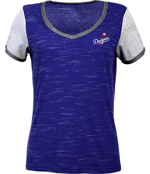 Women's Antigua Los Angeles Dodgers MLB Rival V-Neck T-Shirt