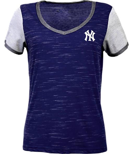 Women's Antigua New York Yankees MLB Rival V-Neck T-Shirt