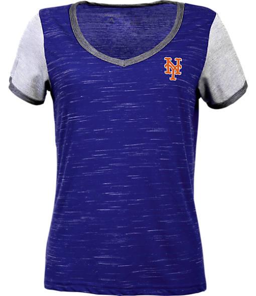 Women's Antigua New York Mets MLB Rival V-Neck T-Shirt