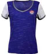 Women's Antigua Texas Rangers MLB Rival V-Neck T-Shirt