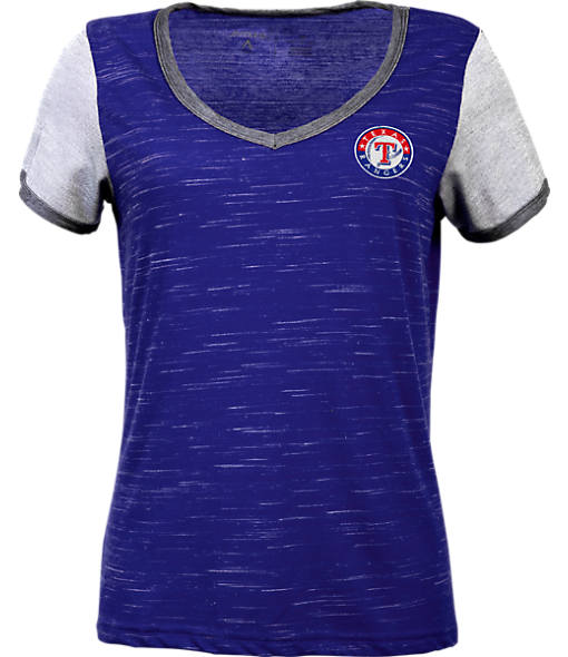 Women's Antigua Texas Rangers MLB Rival V-Neck T-Shirt