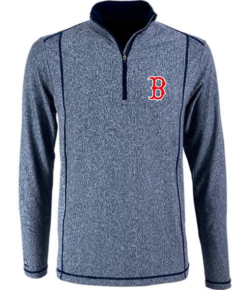 Men's Antigua Boston Red Sox MLB Tempo Quarter-Zip Jacket