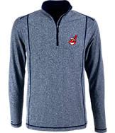 Men's Antigua Cleveland Indians MLB Tempo Quarter-Zip Jacket