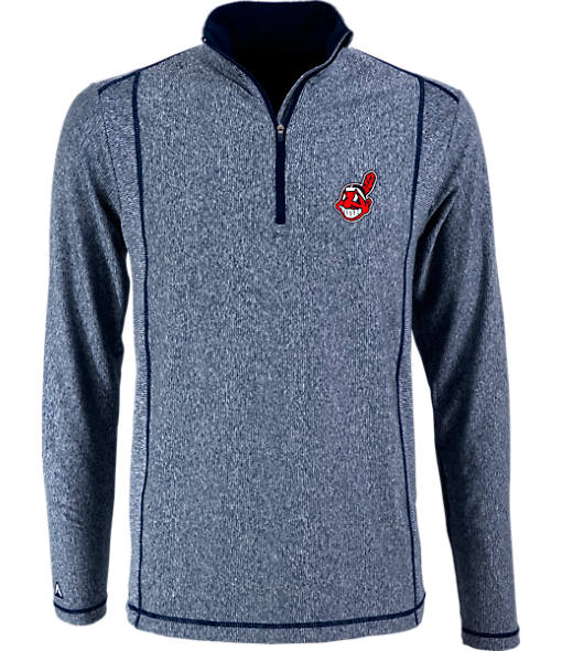 Men's Antigua Cleveland Indians MLB Tempo Quarter-Zip Jacket
