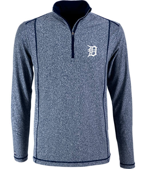 Men's Antigua Detroit Tigers MLB Tempo Quarter-Zip Jacket