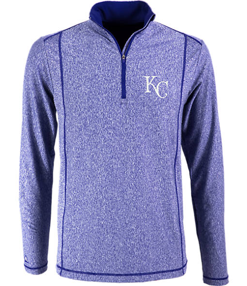 Men's Antigua Kansas City Royals MLB Tempo Quarter-Zip Jacket