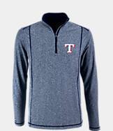 Men's Antigua Texas Rangers MLB Tempo Quarter-Zip Jacket