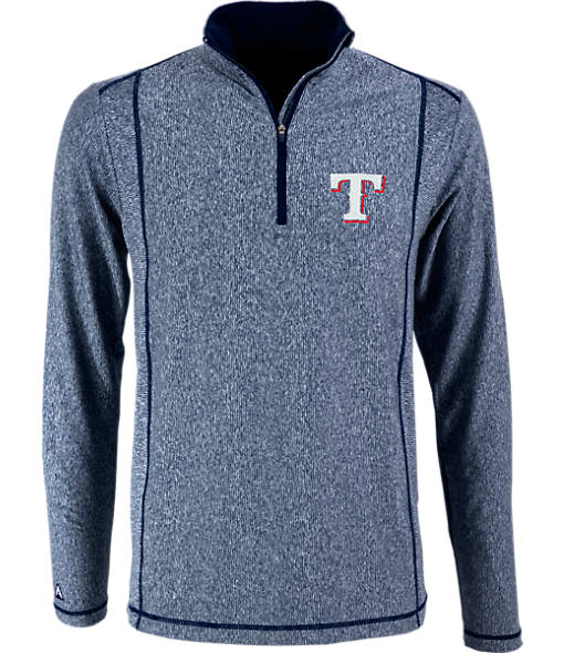 Men's Antigua Texas Rangers MLB Tempo Quarter-Zip Jacket