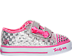 Girls' Toddler Skechers Twinkle Toes: Shuffles - Sweet Steps Light-Up Shoes