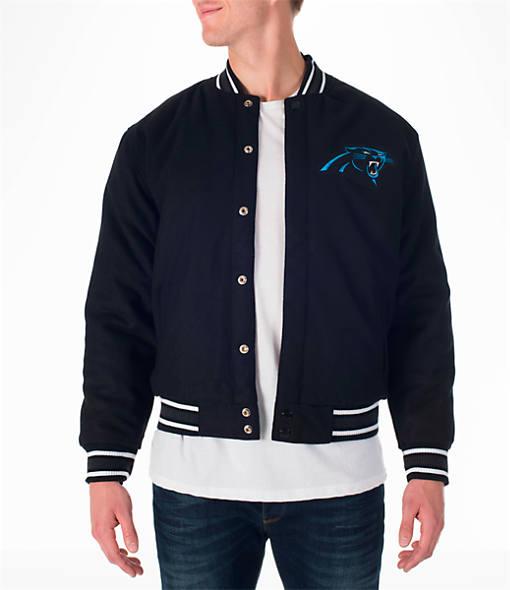 Men's JH Design Carolina Panthers NFL Reversible Wool Jacket