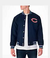 Men's JH Design Chicago Bears NFL Reversible Wool Jacket