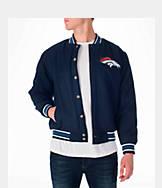 Men's JH Design Denver Broncos NFL Reversible Wool Jacket