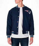 Men's JH Design New England Patriots NFL Reversible Wool Jacket