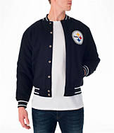 Men's JH Design Pittsburgh Steelers NFL Reversible Wool Jacket