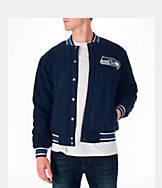 Men's JH Design Seattle Seahawks NFL Reversible Wool Jacket