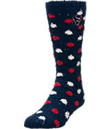 Women's For Bare Feet Houston Texans NFL Polka Dot Sleepsoft Socks