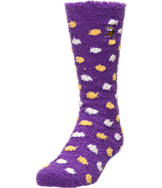 Women's For Bare Feet Minnesota Vikings NFL Polka Dot Sleepsoft Socks