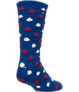Women's For Bare Feet New York Giants NFL Polka Dot Sleepsoft Socks