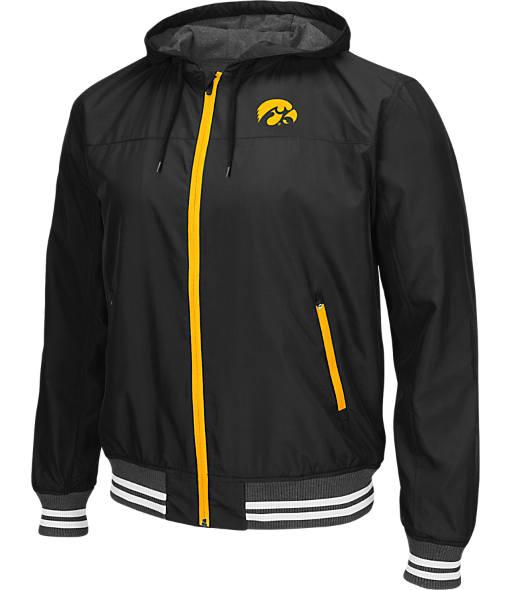 Men's Stadium Iowa Hawkeyes College Black Ice HD Windbreaker Jacket