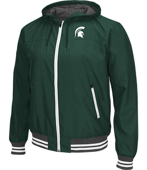 Men's Stadium Michigan State College Black Ice HD Windbreaker Jacket