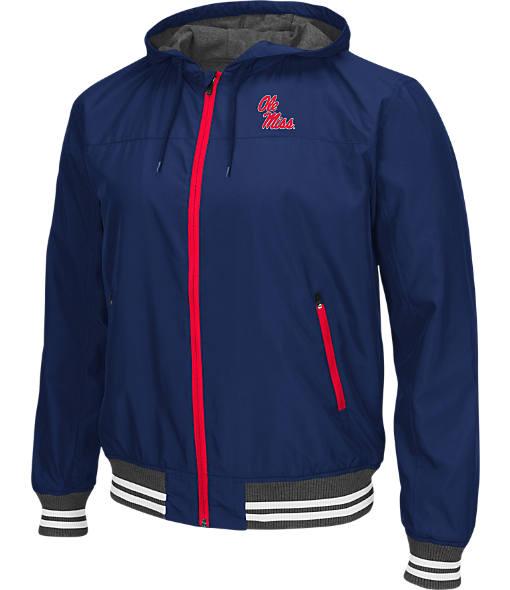 Men's Stadium Mississippi Running Rebels College Black Ice HD Windbreaker Jacket