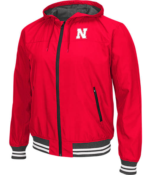 Men's Stadium Nebraska Cornhuskers College Black Ice HD Windbreaker Jacket
