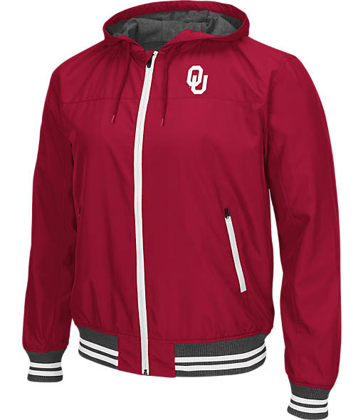 Men's Stadium Oklahoma Sooners College Black Ice HD Windbreaker Jacket