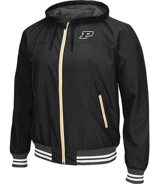 Men's Stadium Purdue Boilermakers College Black Ice HD Windbreaker Jacket