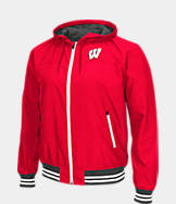 Men's Stadium Wisconsin Badgers College Black Ice HD Windbreaker Jacket