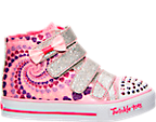 Girls' Toddler Skechers Twinkle Toes: Shuffles - Little Skippers Hi AC Casual Shoes
